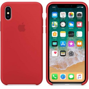 Apple Silicone Case etui do iPhone X (PRODUCT)RED