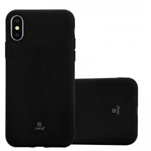 Crong Soft Skin Cover - Etui iPhone Xs / X (czarny)