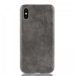 Crong Essential Cover - Etui iPhone Xs / X (szary)