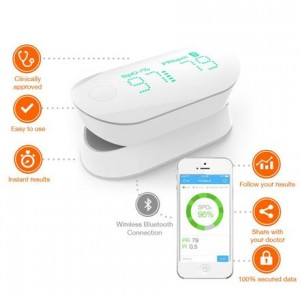 iHealth Oxygen Saturation Monitor - Bezprzewodowy pulsoksymetr iOS/Android