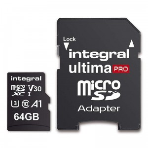 Integral Ultima Pro Premium High Speed - Karta pamięci 64 GB microSDXC/100 MB / s/ Class 10 UHS-I U3/ V30 + Adapter