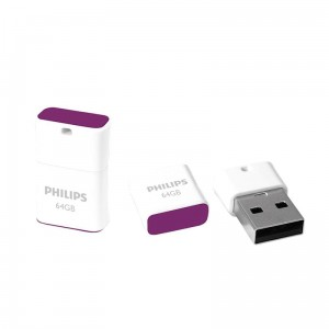 Philips Pendrive USB 2.0 64 GB - Pico Edition (fioletowy)