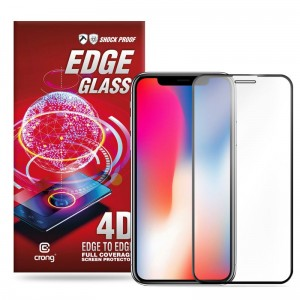 Crong Edge Glass 4D Full Glue - Szkło hartowane na cały ekran iPhone 11 Pro / iPhone Xs / X