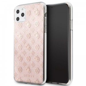Guess 4G Peony Solid Glitter - Etui iPhone 11 Pro Max (różowy)
