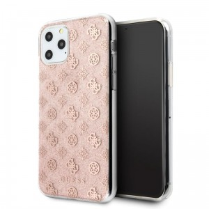 Guess 4G Peony Solid Glitter - Etui iPhone 11 Pro (różowy)