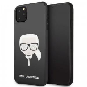Karl Lagerfeld Double Layers Glitter Head - Etui iPhone 11 Pro Max (Black)