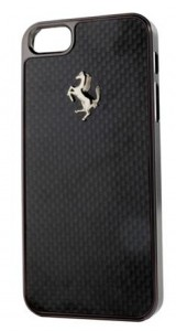 Ferrari GT Carbon Hard Case Etui iPhone 5 / 5s (czarny)