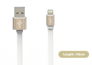 PQI i-Cable Metallic Lightning 100cm gold