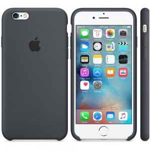 Apple Silicone Case etui do iPhone 6/6s (szare)
