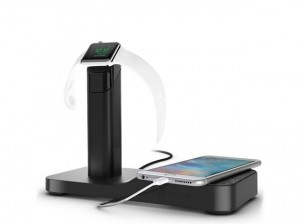 Griffin WatchStand Powered Charging Station - Stacja dokująca do Apple Watch & iPhone & iPad (czarny)