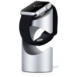 JustMobile TimeStand for Apple Watch silver - Stojak do Apple Watch