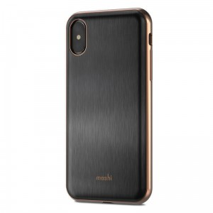 MOSHI IGLAZE - Etui iPhone X (black)