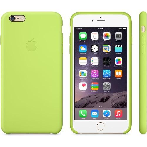 Najnowsze Apple silikonowe etui do iPhone 6 Plus, 6s Plus zielone iShock.pl ZY84